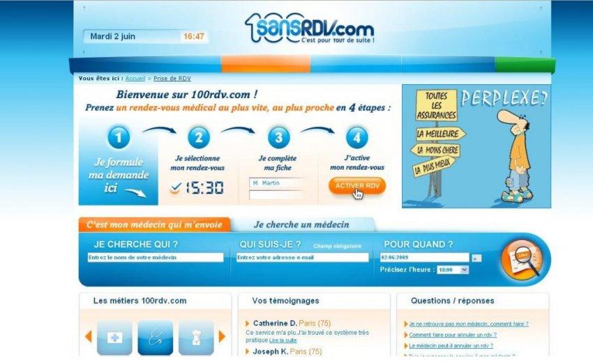 Idée de site web : sansrdv.com