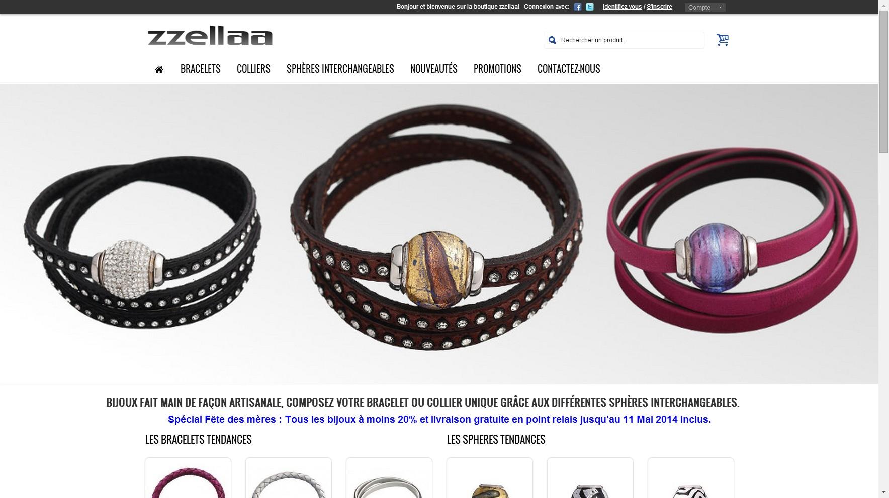 Boutique de bijoux artisanaux et personnalisables : zzellaa.com