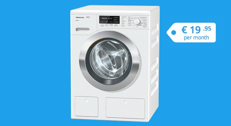 Un abonnement mensuel pour l'utilisation d'une machine à laver