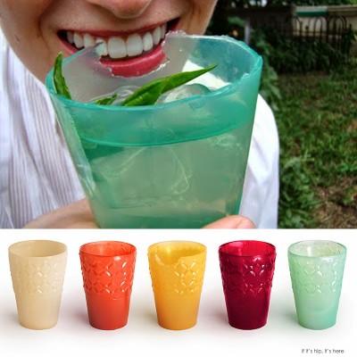 Les verres comestibles.