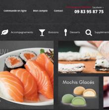 Un concept de boutique de sushis à emporter et en livraison